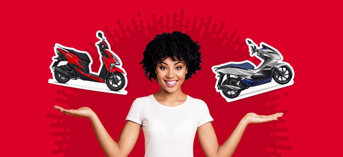 Elite 125 ou PCX 150? Qual scooter melhor me atende?